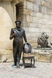 Sculpture de cintreuse d'Ostap à l'entrée à Proval dans Pyatigors photo stock