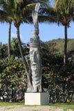 Sculpture de découpage en bois en homme de natif américain Photo stock