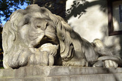 Sculpture de lion Images libres de droits