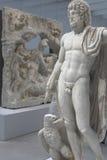 Sculpture de marbre antique de Jupiter images stock