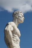 Sculpture de marbre d'une tête humaine Photo stock