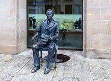 Sculpture de poète Antonio Machado à Soria Images libres de droits