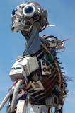 Sculpture de rebut électronique en homme de Weee Photo libre de droits