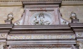 Sculpture de St Stephen, Budapest, Hongrie Images libres de droits