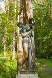Sculpture de Venus Kallipiga - la déesse de l'amour et de la beauté Pavlovsk, St Petersburg, Russie Image stock