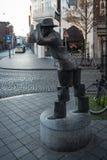 Sculpture De Wiekeneer by Frans Carlier nearly Hotel Beaumont Stock Images