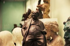 Sculpture de Winston Churchill photographie stock libre de droits
