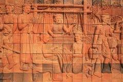 Sculpture decoration of ancient Thai female Stock Images