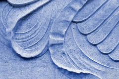 Sculpture Decoration on Blue Marble Royalty Free Stock Photography