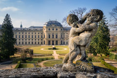 Sculpture decoration, Wurzburg Residence, Germany Stock Photography