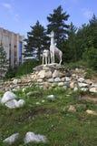 Sculpture of deer in the resort Belokuriha Stock Photography