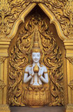 The sculpture of deity on the wall Royalty Free Stock Photos