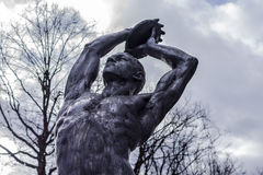 Sculpture depicting a black athlete Royalty Free Stock Images