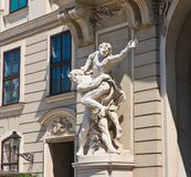 Sculpture depicting the labors of Hercules. Hofburg.Vienna. Austria Stock Photography