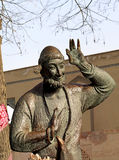 Sculpture depicting an oriental epic character. Bronze sculpture with the image of Khoja Nasreddin - the folkloric character of the Muslim East Stock Photography