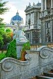Sculpture des anges de putti dans Burggarten images stock