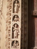 Sculpture design. At the wall of chhatris in Gwalior Stock Photos