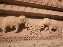 Sculpture design. At the wall of chhatris in Gwalior Royalty Free Stock Photography