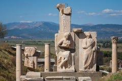 Sculpture detail in Ephesus Royalty Free Stock Photo