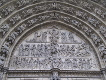 Sculpture details cathedral Antwerp Royalty Free Stock Photo