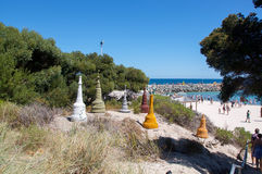 Sculpture Display in Cottesloe Dunes Stock Photography