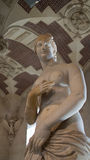 A sculpture on display in Louvre, Paris, France. Royalty Free Stock Photo