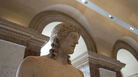 A sculpture on display in Louvre, Paris, France. Royalty Free Stock Images