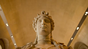 A sculpture on display in Louvre, Paris, France. Stock Photo