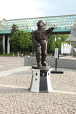 Sculpture of diver-Lighthouse in Gorky Park Royalty Free Stock Photos