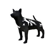 Sculpture dog. Made from paper mache Stock Images