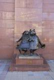 Sculpture of dogs at Krasnaya street. Krasnodar Royalty Free Stock Photography
