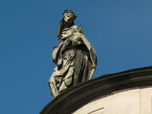 Sculpture on Dominican Church. Sculpture of woman on Dominican Church. Lviv. Ukraine Royalty Free Stock Images