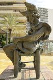 Sculpture of Don Quixote sitting Royalty Free Stock Photo
