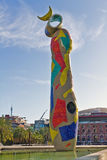 Sculpture Dona i Ocell, Barcelona Spain Stock Photography