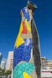 Sculpture Dona i Ocell, Barcelona Stock Photos