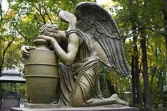 Sculpture in the Donscoy monastery. Moscow Stock Photo