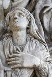Sculpture in the Donscoy monastery Stock Photo