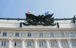 Sculpture of double-headed eagle. In Vienna, Austria Royalty Free Stock Photography
