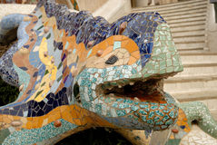 Sculpture of a dragon in Barcelona Spain Royalty Free Stock Images