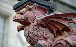 Sculpture of dragon Royalty Free Stock Photo