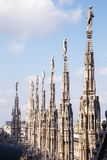 Sculpture in the Duomo DI Milano royalty free stock photography