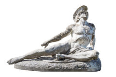 Sculpture of dying Achilles in the Achilleion/Villa Vraila on Co. Statue of dying Achilles in Achilleion/ Villa Vraila on Corfu Royalty Free Stock Images