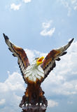 Sculpture of eagle and blue sky Royalty Free Stock Photo