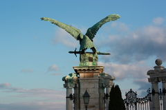Sculpture of eagle in Budapest palace Stock Photos