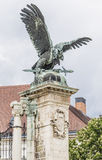 Sculpture of eagle with a sword Stock Photo