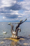 Sculpture by Edouard-Marcel Sandoz at Vevey, Lake Geneva, Switzerland Royalty Free Stock Photo