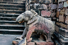 Sculpture of  elephant in group the famous temples of Khajuraho, India. Royalty Free Stock Photo