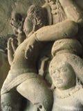 Sculpture at elephanta. Its photo of sculpture taken at elephanta caves,Mumbai stock photo