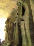 Sculpture at elephanta. Its photo of sculpture taken at elephanta caves,Mumbai royalty free stock photos