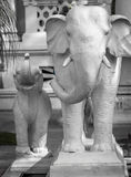 Sculpture of Elephants in Kathmandu, Nepal Stock Photos
